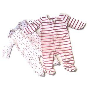 Aden + Anais Girls Sleeper Pajama Footie Bundle